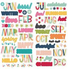 Simple Stories Foam Stickers - Best Year Ever