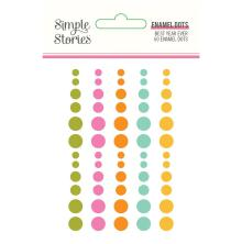 Simple Stories Enamel Dots - Best Year Ever