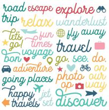 Simple Stories Foam Stickers 6X12 - Going Places