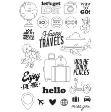 Simple Stories Clear Stamps - Going Places