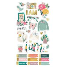 Simple Stories Chipboard Stickers 6X12 - I Am