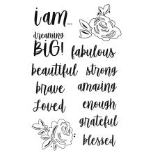 Simple Stories Clear Stamps - I Am