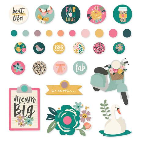 Simple Stories Decorative Brads - I Am