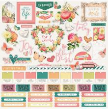 Simple Stories Simple Vintage Garden District Cardstock Stickers 12X12 - Combo