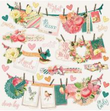 Simple Stories Simple Vintage Garden District Cardstock Stickers 12X12 - Banner