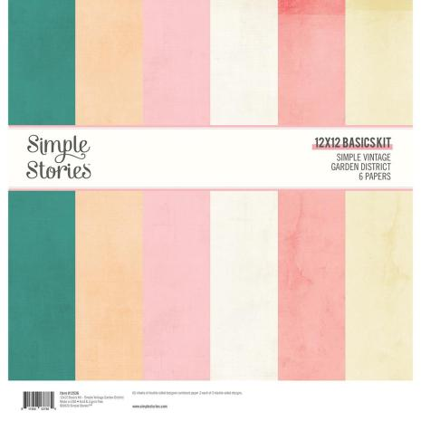 Simple Stories Basics Double-Sided Paper Pack 12X12 6/Pkg