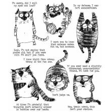 Tim Holtz Cling Stamps 7X8.5 - Snarky Cat