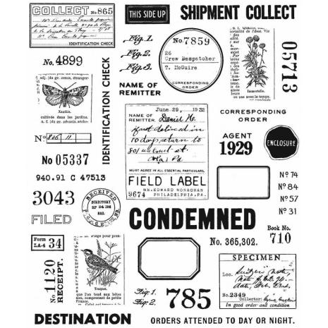 Tim Holtz Cling Stamps 7X8.5 - Field Notes