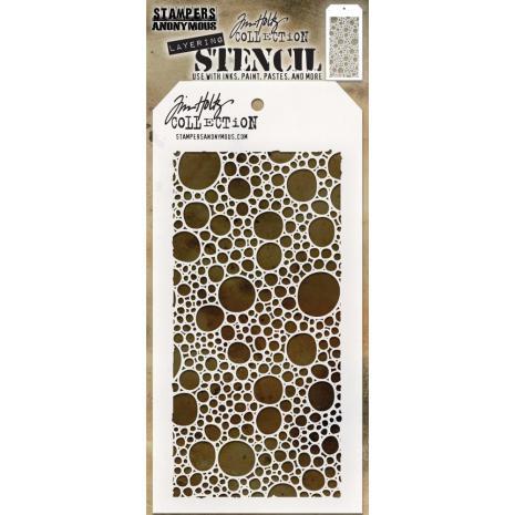 Tim Holtz Layered Stencil 4.125X8.5 - Bubbles