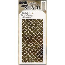 Tim Holtz Layered Stencil 4.125X8.5 - Scales