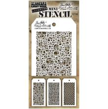 Tim Holtz Mini Layered Stencil Set 3/Pkg - Set 46