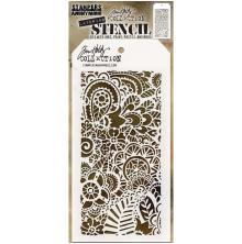Tim Holtz Layered Stencil 4.125X8.5 - Doodle Art 2
