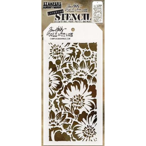 Tim Holtz Layered Stencil 4.125X8.5 - Bouquet