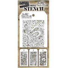Tim Holtz Mini Layered Stencil Set 3/Pkg - Set 47