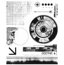 Tim Holtz Cling Stamps 7X8.5 - Glitch 1