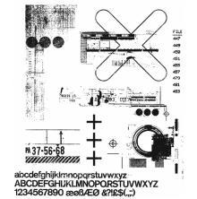 Tim Holtz Cling Stamps 7X8.5 - Glitch 2
