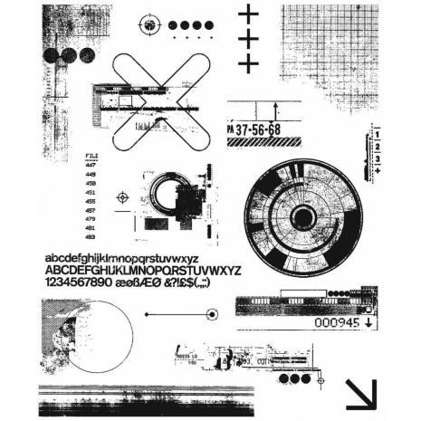 Tim Holtz Cling Stamps 7X8.5 - Mini Glitch