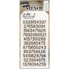 Tim Holtz Layered Stencil 4.125X8.5 - Digits