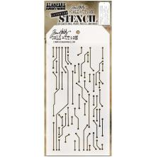 Tim Holtz Layered Stencil 4.125X8.5 - Circuit