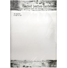 Tim Holtz Distress Cracked Leather Cardstock 10/Pkg  8.5X11