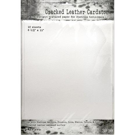 Tim Holtz Distress Cracked Leather Cardstock 10/Pkg  8.5X11