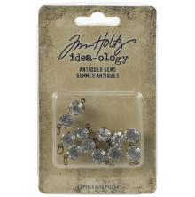 Tim Holtz Idea-Ology Metal Adornments 12/Pkg - Antiqued Gems