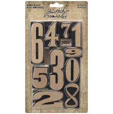 Tim Holtz Idea-Ology 10/Pkg - Number Blocks