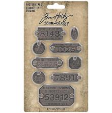 Tim Holtz Idea-Ology Metal Adornments 9/Pkg - Factory Tags