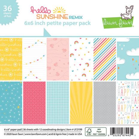 Lawn Fawn Petite Paper Pack 6X6 - Hello Sunshine Remix