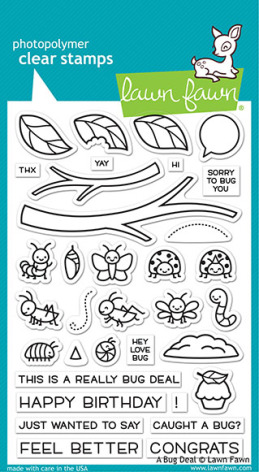 Lawn Fawn Clear Stamps 4X6 - A Bug Deal