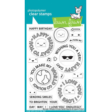 Lawn Fawn Clear Stamps 4X6 - Reveal Wheel Circle Sentiments