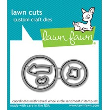 Lawn Fawn Custom Craft Die - Reveal Wheel Circle Sentiments