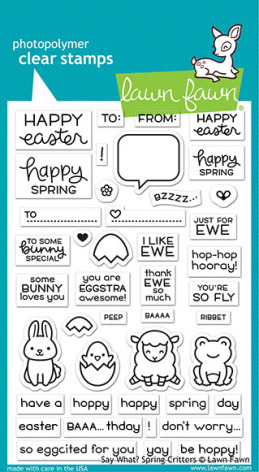 Lawn Fawn Clear Stamps 4X6 - Say What? Spring Critters