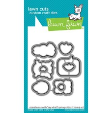 Lawn Fawn Custom Craft Die - Say What? Spring Critters