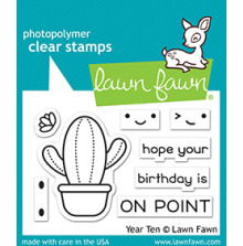 Lawn Fawn Clear Stamps 3X2 - Year Ten