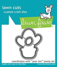 Lawn Fawn Custom Craft Die - Year Ten