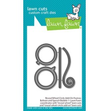 Lawn Fawn Custom Craft Die - Reveal Wheel Circle Add-On Frames: Balloon and Spee