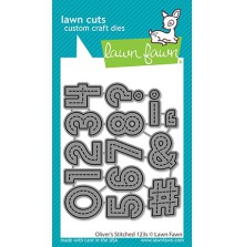 Lawn Fawn Custom Craft Die - Oliver´s Stitched 123s