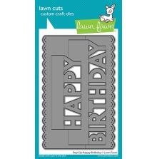 Lawn Fawn Custom Craft Die - Pop-Up Happy Birthday