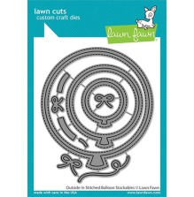 Lawn Fawn Custom Craft Die - Outside In Stitched Balloon Stackables