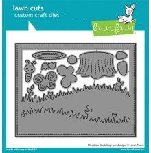 Lawn Fawn Custom Craft Die - Meadow Backdrop Landscape