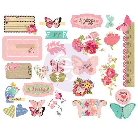 Prima Butterfly Bliss Chipboard Stickers 25/Pkg