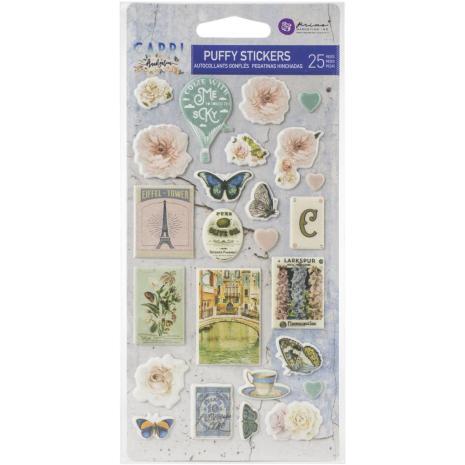 Prima Capri Puffy Stickers 25/Pkg
