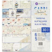 Prima Double-Sided Paper Pad 12X12 30/Pkg - Capri