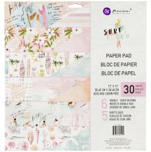 Prima Double-Sided Paper Pad 12X12 30/Pkg - Surfboard