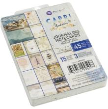 Prima Journaling Cards 3X4 45/Pkg - Capri
