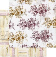 Prima Pretty Mosaic Double-Sided Cardstock 12X12 - Floral Toile
