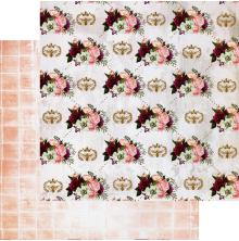Prima Pretty Mosaic Double-Sided Cardstock 12X12 - Queen Bee