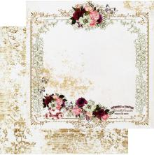 Prima Pretty Mosaic Double-Sided Cardstock 12X12 - Tea and Roses