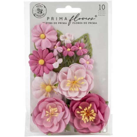 Prima Surfboard Mulberry Paper Flowers 10/Pkg - Betty